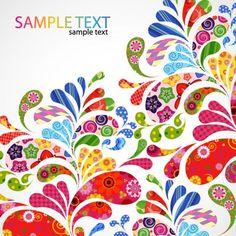 colorido diseño floral gráfico vectorial