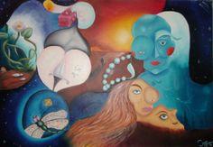 Amor y Suerte Óleo sobre Lienzo 100 cm * 70 cm Dic-2011 Dic, Disney Characters, Fictional Characters, Disney Princess, Amor, Oil On Canvas, Canvases, Pintura, Fantasy Characters