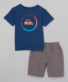 Look what I found on #zulily! Quiksilver Navy & Gray Top & Short Set - Infant, Toddler & Boys by Quiksilver #zulilyfinds