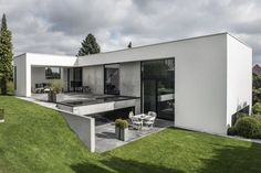 I wanted to share this monochromatic dream of a home with you today because often black/white/g...