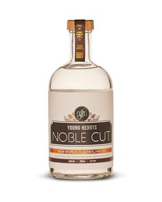 We like to think of Young Henrys Noble Cut as a brewer's gin. Highly aromatic, highly complex and altogether unique take on the London Dry style of gin. Gin Bottles, Vodka Bottle, Young Henrys, London Dry, Hot Shots, Gin And Tonic, Label Design, Whisky, Whiskey Bottle