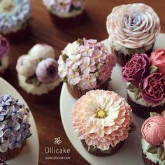#Buttercream #flowercake  #cupcake  ollicake@naver.com
