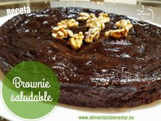 Brownie no sugar Sugar Free Desserts, Cookie Desserts, Sweet Desserts, Chocolate Desserts, Sweet Recipes, Real Food Recipes, Dessert Recipes, Cooking Recipes, Yummy Food