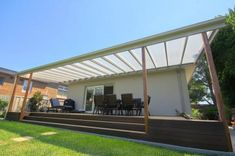 Verandah with Clear Flat Roof