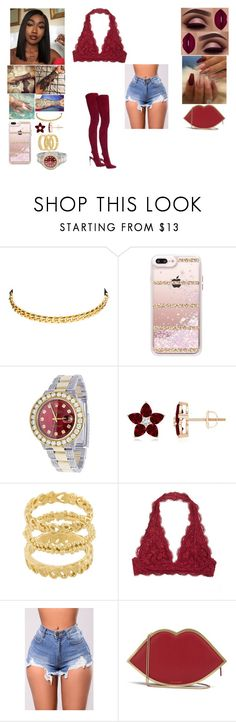 """Untitled #853"" by nylamcclam ❤ liked on Polyvore featuring Dean Davidson, Casetify, Rolex, Wouters & Hendrix and Lulu Guinness"