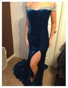 Panoply Blue Gown - Click for more details or to contact the seller.  Have something to sell?  Visit www.pageantresale.com to get started!  #pageantresale #panoply #pageantgown
