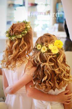 First Communion or Flower Girl Hair