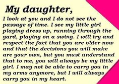 For when my little girl is not so little.... Makes me want to cry because I want her little forever!!