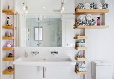 15 Bathroom Shelving Design Ideas