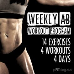 CESPINS❤ WEEKLY AB WORKOUT - try this workout program for 30 days and see what a solid weekly ab routine does for your physique! #fitluential