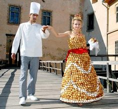 Cream Puff Wedding dress by Valentyn Stefano that he made for his wife ...