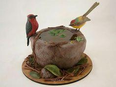 Torta bebedero pajaritos