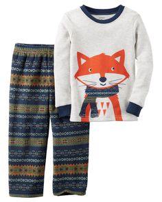 Toddler Boy 2-Piece Cotton & Fleece PJs from Carters.com. Shop clothing…