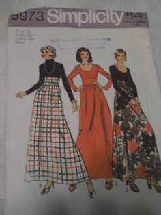 All 11 Pattern Pieces Misses' Dress Size 14 by SerendipityinMay