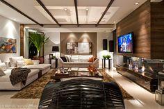 Salas de TV – veja 30 modelos lindos e dicas decoração! - Decor Salteado - Blog de Decoração e Arquitetura