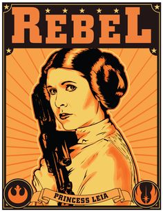 Star wars Princess Leia REBEL artwork