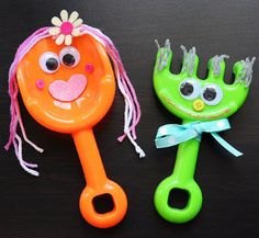Decorated Beach Toy Puppets