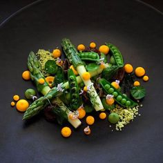 """3,729 Likes, 14 Comments - chefsplateform@gmail.com (@chefsplateform) on Instagram: """"Spring... Asparagus, morels, peas, favas, snap peas, fried herbs, carrot duckfat emulsion. By…"""""""