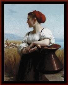The Harvester - Bouguereau Cross Stitch Pattern by Cross Stitch Collectibles