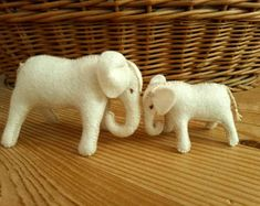 Natural toys wool felt animals role play Waldorf eco by Felthorses Mother And Baby Animals, Mother And Baby Elephant, Toys For Girls, Gifts For Boys, Girl Gifts, Natural Toys, Colorful Animals, Cute Little Things, Felt Toys