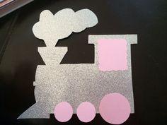 Craft paper train cutout