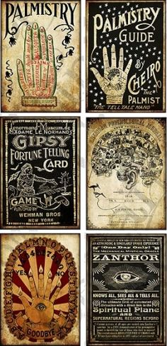 You don't have to be psychic to see all of the creative possibilities with these Palmistry Tags by Hope Photo Art — available for instant download on e-crafting.com!