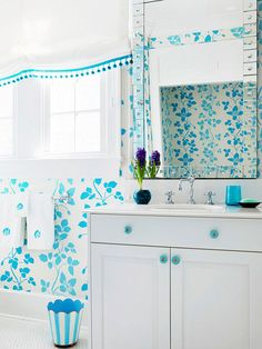 Small Bathroom Color Ideas - Need color advice for choosing hues for a small bathroom? Try these tips and tricks. - By Kelly Roberson