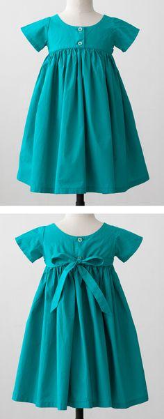 simple, beautiful color Oliver + S Playtime dress inspiration Sewing Patterns Girls, Dress Patterns, Toddler Dress, Baby Dress, Little Girl Dresses, Girls Dresses, Moda Kids, Kid Styles, Baby Sewing
