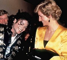 July 16 1988 Charles & Diana attend a Michael Jackson concert at Wembley Stadium as Joint Patrons of the Wishing Well Appeal for the Re-Development of Great Ormond Street Children's Hospital and The Prince's Trust.