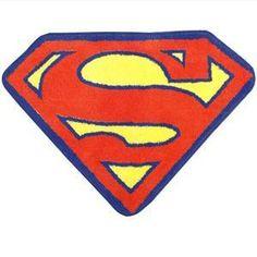 Superman Bath Rug for our superhero bathroom : )