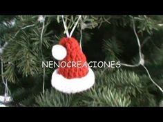 COMO TEJER GORRITO NAVIDEÑO PARA DECORAR, VARIOS USOS GANCHILLO CROCHET - YouTube
