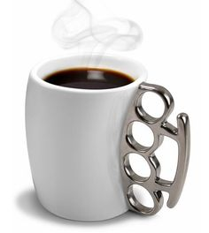 Fisticup Brass Knuckle Mug [via Cool Coffee Mugs] - to help start off a badass morning.