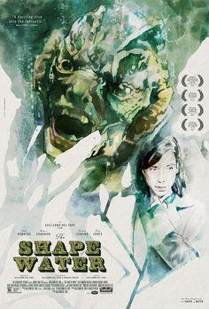 忘形水 The Shape of Water 121min / 2017  #GuillermodelToro #SallyHawkins #OctaviaSpencer #MichaelShannon  #Adventure, Drama, Fantasy #USA #Movie #Poster