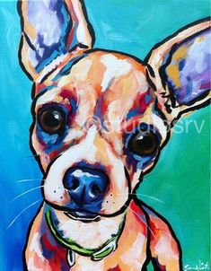 I have many chihuahua paintings you may choose from. Please see my website or other listings for one that looks just like your baby, or you can have a
