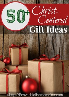 50+ Christ-Centered Gift Ideas for kids and the whole family. Great for any occasion! | ProverbialHomemaker.com