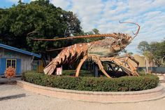 'Big Betsy', the giant lobster sculpture in the Florida Keys
