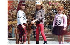 hoja central, catálogo de ropa infantil