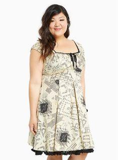 441239ce5eb92 Plus Size Harry Potter Marauder s Map Print Dress