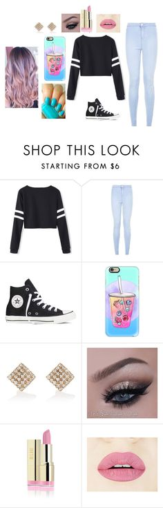 Bubbly by americ0 on Polyvore featuring Converse, River Island, Casetify, Essie, women's clothing, women's fashion, women, female, woman and misses