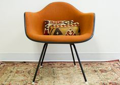 Foxy Orange Herman Miller Chair by oldnewhouse on Etsy, $750.00