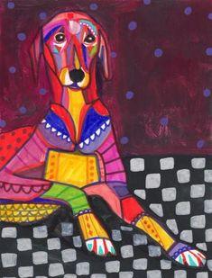 Dog Art  Azawakh Dog Art PRINT Poster of by HeatherGallerArt, $24.00