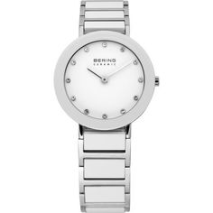 100% Authentic with BERING 3-Year International Warranty. Authorized Retailer. Item BERING Women's Watch Model # 11429-754 Collection Ceramic Case Shiny Silver Stainless Steel Case Back Snap-Down Beze