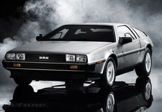 Delorean!! Top speed 88mph. Doesn't need roads, need I go on