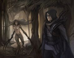 Commision: Garrett and Viktoria by Shagan-fury on DeviantArt Book Characters, Fictional Characters, Dark Ages, Assassin, Rogues, Game Art, Mythology, Character Art, Art Drawings