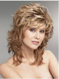 Hair Blonde Wavy Synthetic Perfect Medium Wigs, Real Hair Wigs Medium Length - Want Blonde Wavy Synthetic Perfect Medium Wigs? Wigsis offers various mid-length haircuts wigs, top quality with latest colors Real Hair Wigs, Human Hair Wigs, Medium Hair Styles, Curly Hair Styles, Hair Medium, Curly Bob Hairstyles, Shaggy Haircuts, Men's Haircuts, Hairstyles 2016
