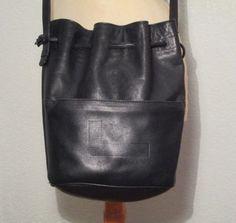 LANCEL  French Luxury Black Leather Bag  Black by Decofanatique