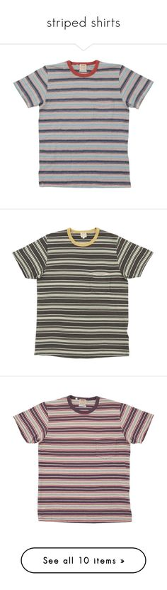 """striped shirts"" by nogardea on Polyvore featuring men's fashion, men's clothing, men's shirts, men's t-shirts, tops, t-shirts, shirts, tees, mens patterned t shirts and mens striped shirt"