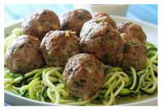 Asian turkey meatballs with lime cilantro dipping sauce.