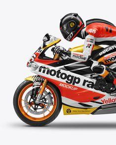 MotoGP Racer Mockup – Side View