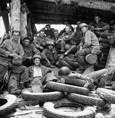 US Marines during the retaking of the Marshall Islands